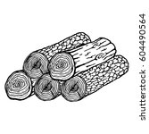 logs of trees icon in cartoon... | Shutterstock .eps vector #604490564