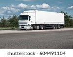 truck on road  blue sky  cargo... | Shutterstock . vector #604491104