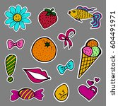a set of fashion labels  badges.... | Shutterstock . vector #604491971