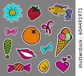 a set of fashion labels  badges.... | Shutterstock . vector #604491971