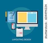 conceptual layouting design | Shutterstock .eps vector #604494224