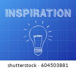 hand drawn inspiration sign and ... | Shutterstock . vector #604503881