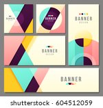 set of banner templates. bright ... | Shutterstock .eps vector #604512059
