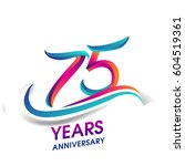 seventy five years anniversary... | Shutterstock .eps vector #604519361