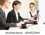business people working in an... | Shutterstock . vector #60452344