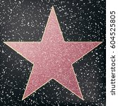 walk of fame star.  | Shutterstock .eps vector #604525805