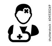 patient icon   injury medical... | Shutterstock .eps vector #604530269