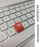 keyboard heart key | Shutterstock . vector #604530749