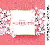 international happy mothers day.... | Shutterstock .eps vector #604530851