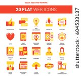 vector set of social media and... | Shutterstock .eps vector #604533137