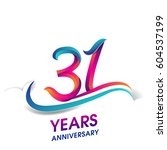 thirty one years anniversary... | Shutterstock .eps vector #604537199