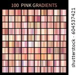 pink rose gradients collection... | Shutterstock . vector #604537421