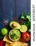 Guacamole Bowl With Ingredients ...