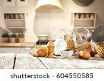 breakfast time  | Shutterstock . vector #604550585