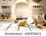 breakfast time  | Shutterstock . vector #604550621