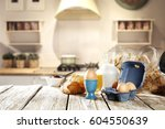 breakfast time  | Shutterstock . vector #604550639