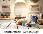 breakfast time  | Shutterstock . vector #604550639