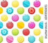 sweet candies seamless pattern... | Shutterstock .eps vector #604550651