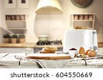 breakfast time  | Shutterstock . vector #604550669