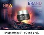 moisturizing cosmetic products... | Shutterstock .eps vector #604551707