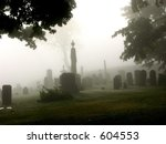 a graveyard in the town of... | Shutterstock . vector #604553