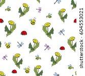 funny bugs. vector cute bugs... | Shutterstock .eps vector #604553021