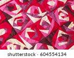 Part Of Color Patchwork Quilt...