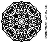 mandala for painting. vector... | Shutterstock .eps vector #604557431