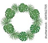 floral wreath. collection with... | Shutterstock .eps vector #604562705