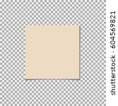 clear list of paper on a grey... | Shutterstock .eps vector #604569821