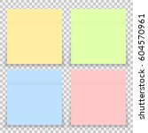 vector colorful office sticker... | Shutterstock .eps vector #604570961