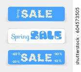 set of sale banners or website... | Shutterstock .eps vector #604573505
