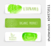 set of eco friendly labels.... | Shutterstock .eps vector #604573511