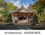 japanese temple | Shutterstock . vector #604581809
