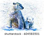 polar bear   Shutterstock . vector #604583501