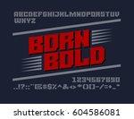 bold serif typeface. uppercase... | Shutterstock .eps vector #604586081