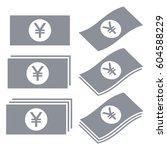 japanese yen banknotes vector... | Shutterstock .eps vector #604588229
