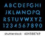 blue smoke font | Shutterstock . vector #604588769