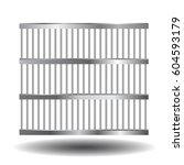 steel bars of prison bars.... | Shutterstock .eps vector #604593179