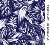 abstract seamless pattern with... | Shutterstock . vector #604595561