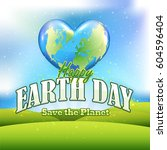 earth day vector design  spring ... | Shutterstock .eps vector #604596404