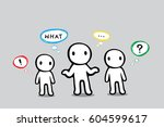 cartoon doodle question word... | Shutterstock .eps vector #604599617