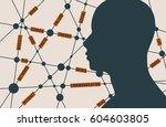 tags cloud. social media... | Shutterstock .eps vector #604603805