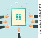 businessman hand holding a...   Shutterstock .eps vector #604611191