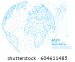three dimensional abstract... | Shutterstock .eps vector #604611485