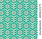 seamless retro pattern with... | Shutterstock .eps vector #604612175