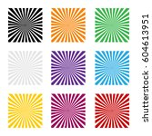 sun rays set color rays sun on... | Shutterstock .eps vector #604613951