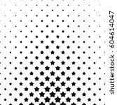 black and white pentagram star... | Shutterstock .eps vector #604614047
