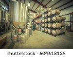 blur image modern beer plant ...