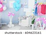 interior of beautiful room... | Shutterstock . vector #604623161